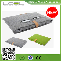 New Luxury Design Felt Sleeve for Macbook 13.3inch, Protective File Older Felt Case for Macbook 12inch