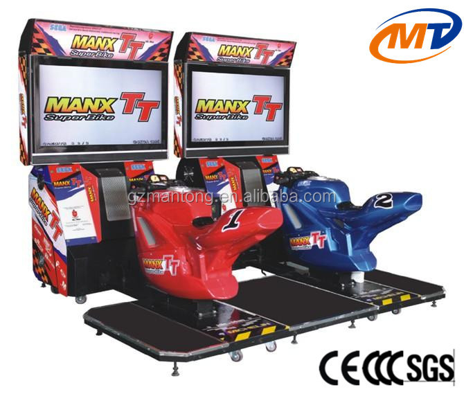 mantong coin operated electric indoor arcade simulator super luxury 47 inch Max TT two player car pc game machine