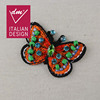 Wholesale fashion applique on clothing, butterfly beaded appliques for dresses
