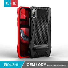 DUZHI new arrival carbon fiber pattern TPU bumper mobile phone case with metal ring holder for mobile phone cover for iphonex
