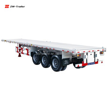 2 Axle 3 Axle Shipping 40ft or 20ft Container Used Flatbed Semi Trailer