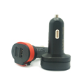 6A LED 2 port usb car charger,3 in 1 Car Charger with Micro Charging Cable for Android