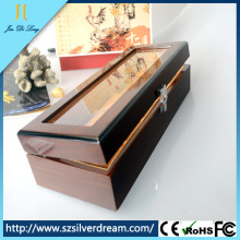Transparent Watch Box Gift Packing Solid Wood Watch Box