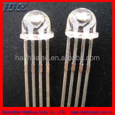 5MM 8MM Round RGB LED Diode with 4 Pins