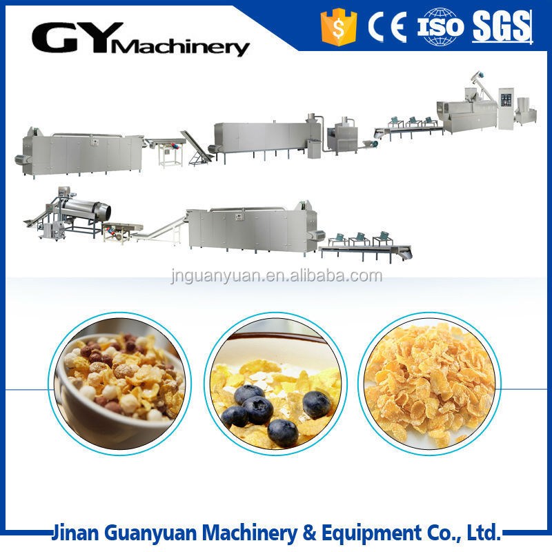 popular corn flakes production line rice snack crust making machine