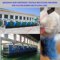 factory price old clothes fabric /hard waste/linen/cotton waste recycling machine for spinning