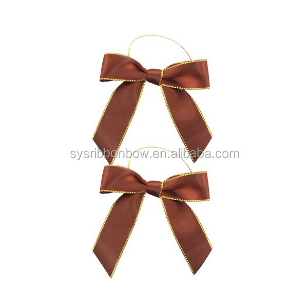 Wholesale custom satin ribbon bow for gift packaging