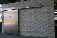 stainless steel manual sliding cold room door