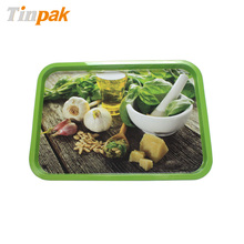 custom rectangle metal serving tray for fruits