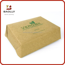 Specialty supply food grade kraft card paper packing paper box for snacks