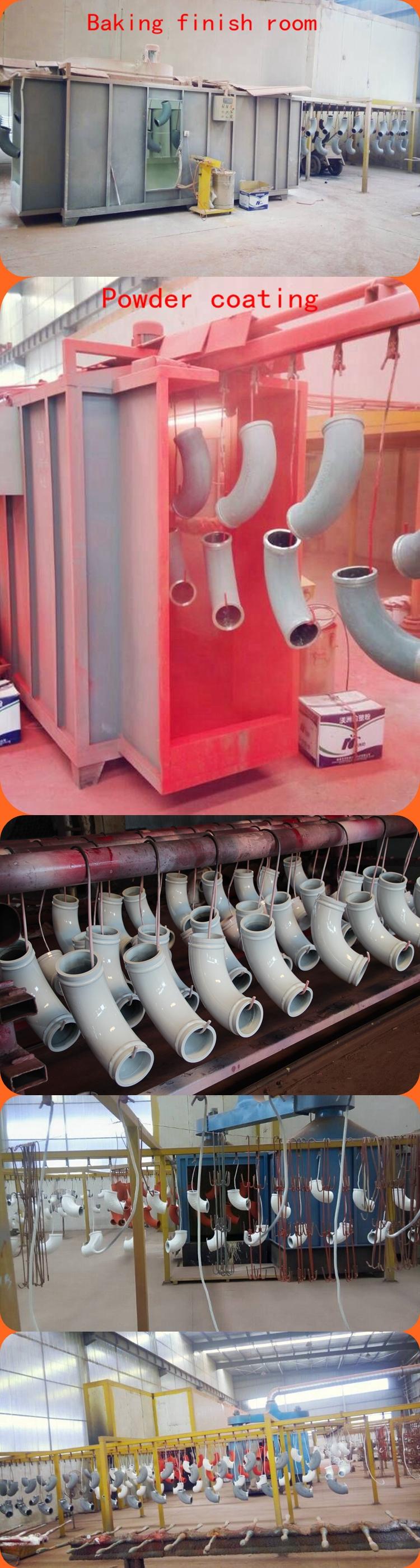 Concrete boom pump truck parts DN125 transport concrete pump eblow in china