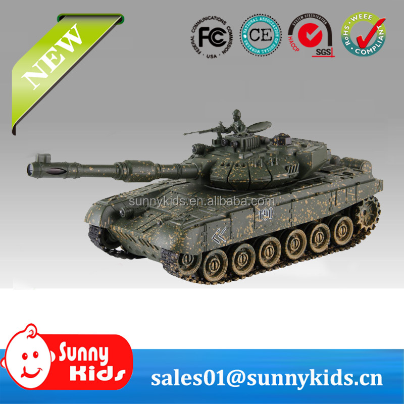 1:18 2.4G T90 Shooting RC Tank with Music and Light