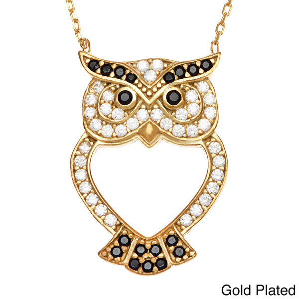 Turkish Latest Gold Jewelry Custom Silver Owl Pendant Necklace