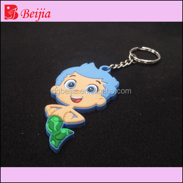 High quality hot selling soft pvc key chain, soft pvc 3d keychain/custom keychain, soft pvc keyring/pvc key ring
