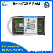 Cheap computer parts ram memory ddr3 sodimm 4gb