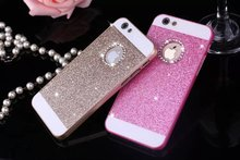 Best selling luxury design cell phone cases Shimmer Loose powder hard PC fancy cell phone cases for iphone 4/5/6/6 plus