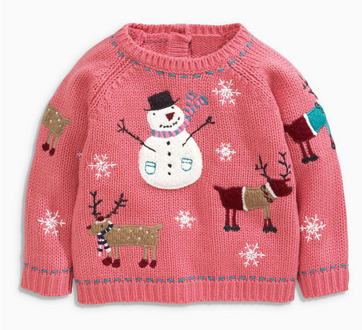 2016 Soft kids clothes chid knitting patterns children cartoon sweater