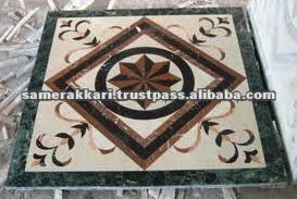 Decorative Square Stone Mosaic Floor Tile