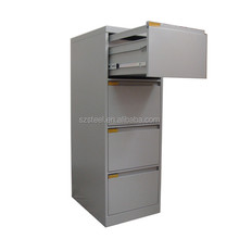 Shenzhen factory 4 drawers cheap metal vertical file cabinets with lock