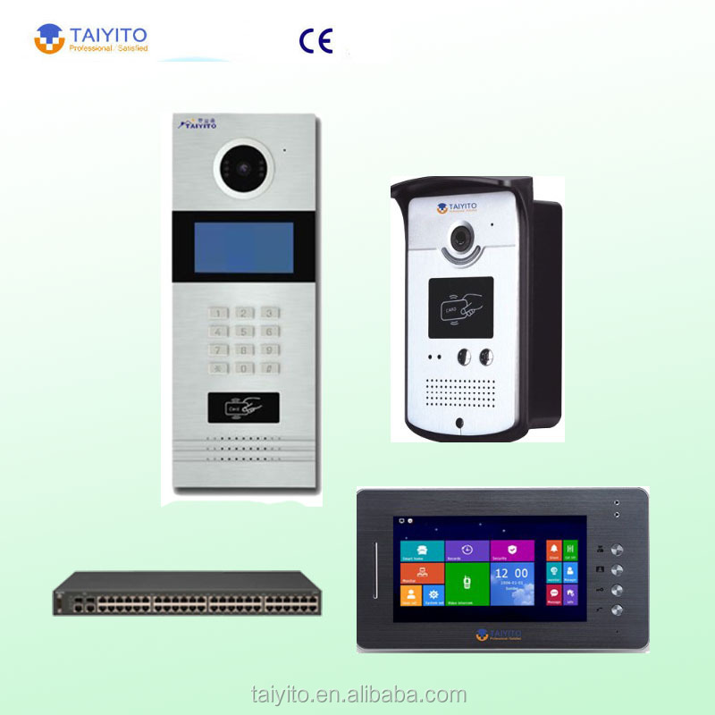 Best selling building video intercom system with door release with home automation fuction
