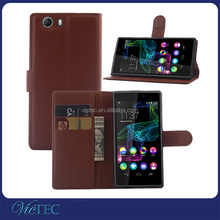 For wiko ridge fab 4g mobile phone blank pu leather case