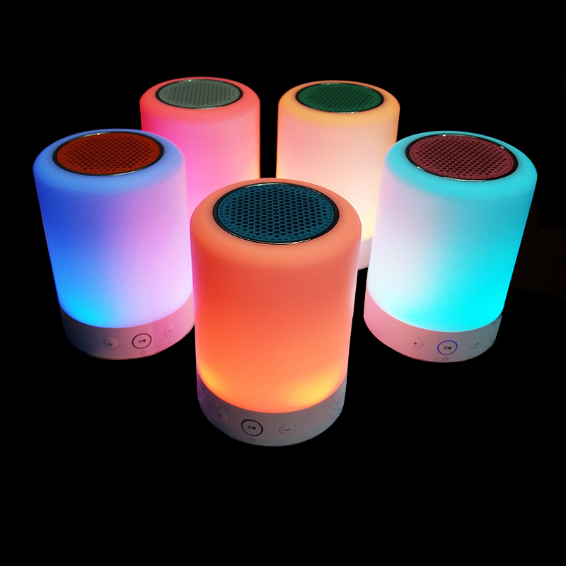 Flash LED light bluetooth speaker