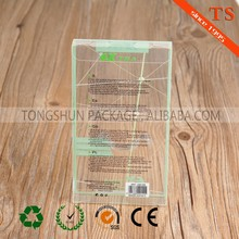 custom printed clear auto pillow pvc plastic packaging box
