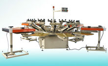 Semi automatic carousel screen printing machine,t shirt screen printer
