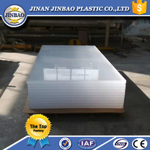JINBAO clear crystal acrylic plastic sheet for sign display stand