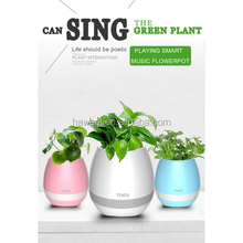 TOKQI K3 Egg Smart Bluetooth Music Flower Speaker with Light Plant for Home Office Decoration or garden furniture outdoor