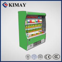 11FD green multi doors display showcase refrigerator/freezer/fridge/low voltage air cooler