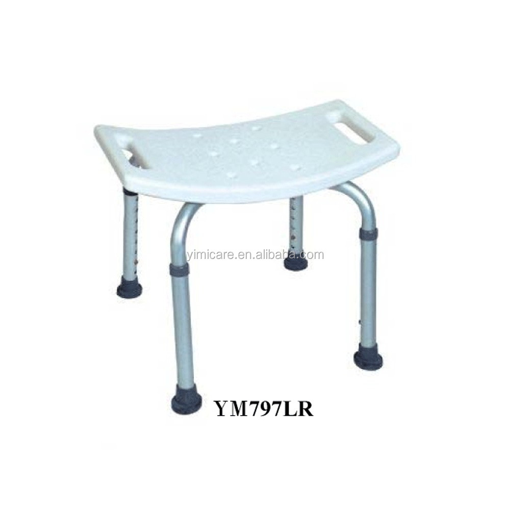 New arrival can not fold adjustable height durable shower commode chair