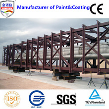 Multifunctional red oxide primer paint for steel structures protection paint film