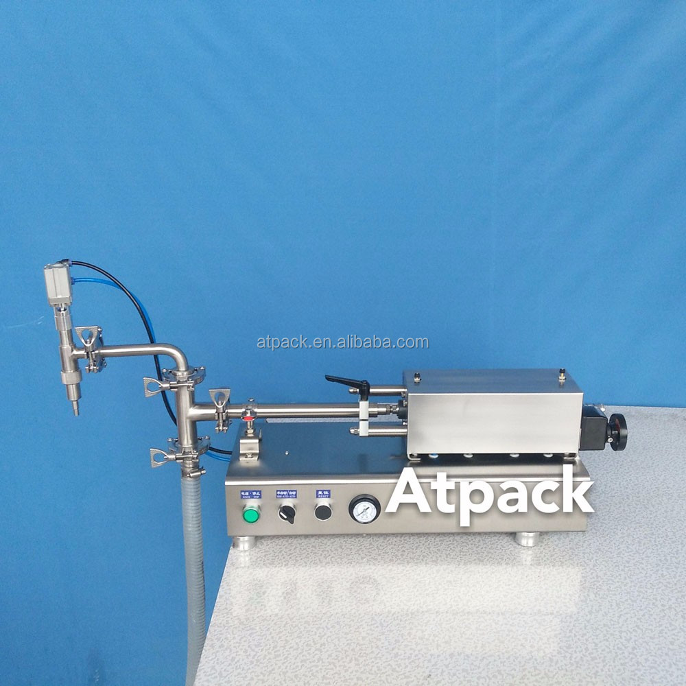 Atpack high-accuracy semi-automatic Florence coconut olive soybean oil filling machine with CE GMP