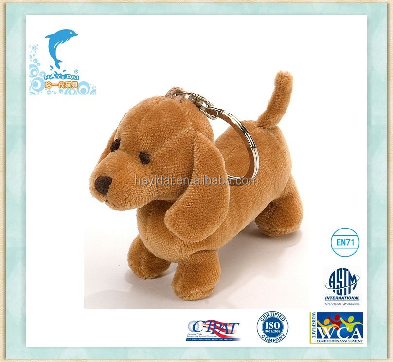 Dachshund Dog Plush Keychain Stuffed animal promotion Toys