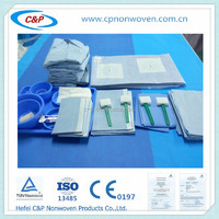 2016 best selling/ factory offer Single Use Fenestrated Angiography Pack for Hospital;OEM