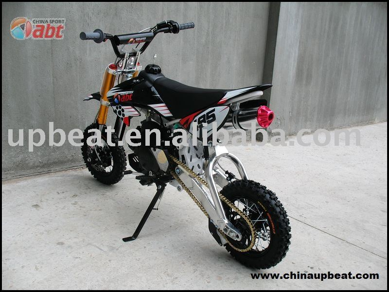 dirt bike with design of 50cc CRF and triangle suspension