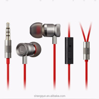 Super Bass metal flat cable earphone headphone for gionee