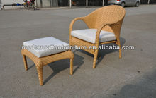 2012 resin rattan high back folding chair with foot rest