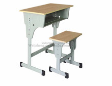 Modern steel frame cheap middle school student desk and chair