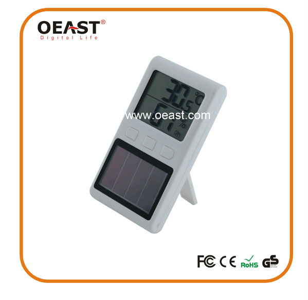 HOT selling LED small digital clock with solar power