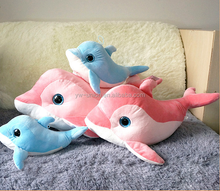 Assorted colourful soft plush dolphins , Ocean toys animals plush