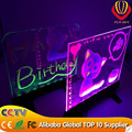 Ali-express electronic shops advertising items newest design desktop led writing board colorful drawing by marker pen