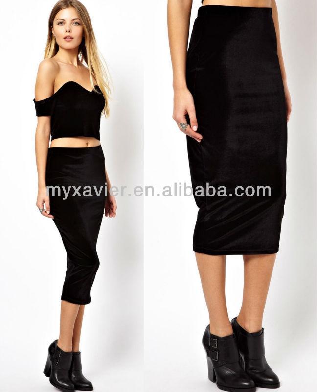 Velvet Pencil Skirt,Long Tight Skirt - Buy Long Tight Skirt,Velvet ...