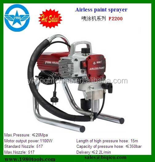 F2200 Hot sale electric piston pump Airless Paint Sprayer 1.5HP 1.1kw with CE SAA EMC HS code 84243000, 8424891000