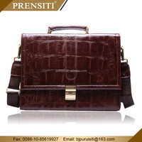 New fashion custom gift genuine italian kids leather Handbags executive laptop genuine leather men briefcase