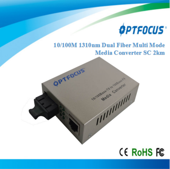 10/100M Dual Fiber Multi Mode 2km with SC connector Media Converter