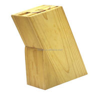5cps kitchen knife block made from wood
