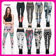 China Wholesale Newest 2016 Stock Yoga Tight Pants 3D Digital Sublimation Printed Leggings for Women
