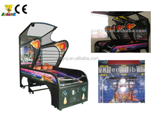 Indoor arcade hoops cabinet basketball game /extreme hoops basketball game